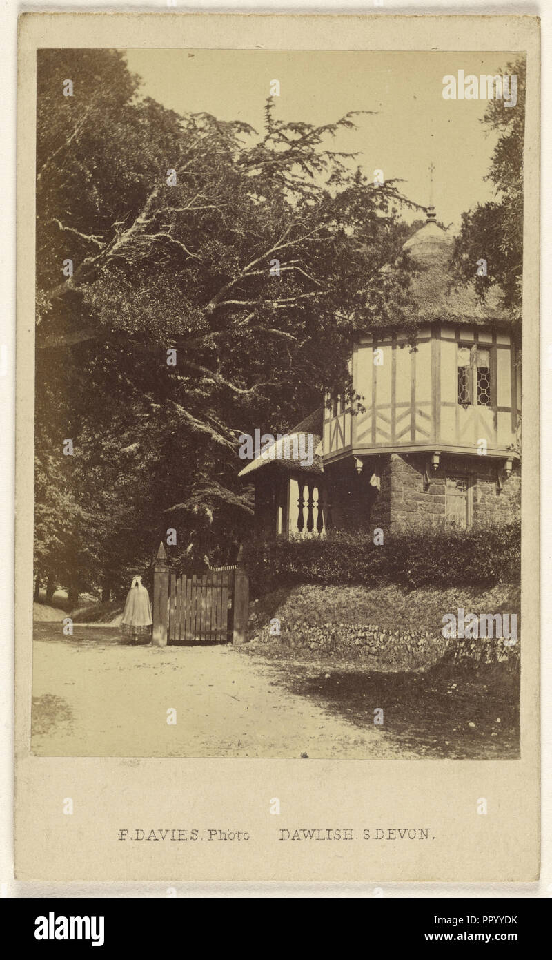Entrance Lodge, Mamhead Park; F. Davies, British, active 1860s, 1865 - 1875; Albumen silver print - Stock Image