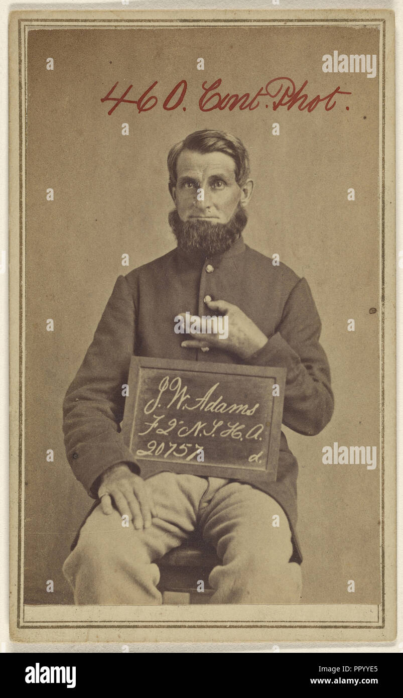 J.W. Adams, F 2 N.T.H.A. 20757 d, Civil War victim; American; 1862 - 1872; Albumen silver print Stock Photo