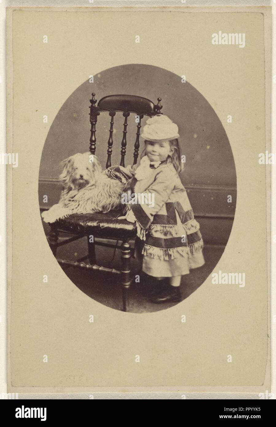 Mary S. Hamilton. May 1872. Aged 3 1,2; G. Parker, British, active Pittville, Cheltenham, England 1860s - 1870s, May 1872 - Stock Image