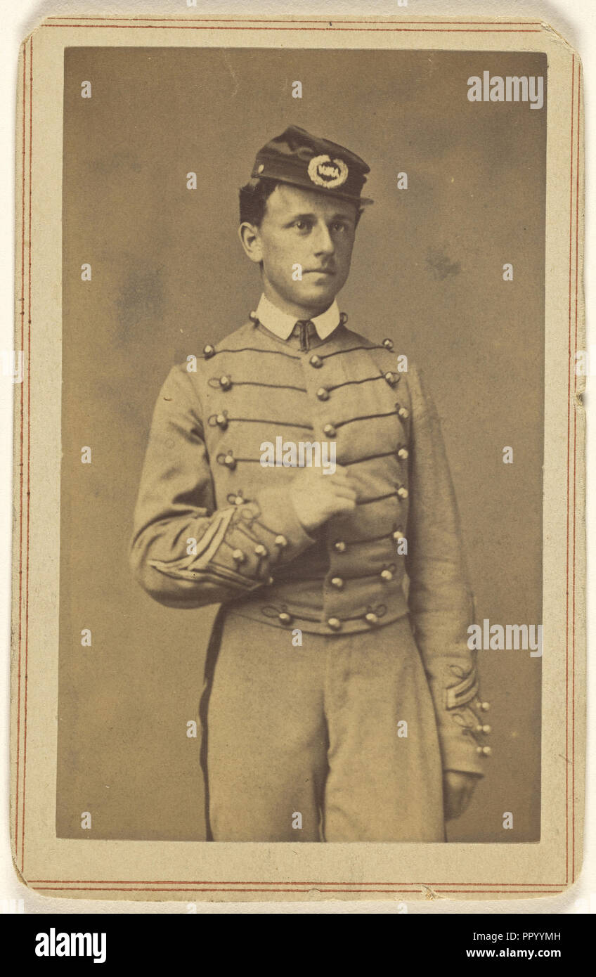 J.C. Post Cadet U.S.M.A. West Point cadet; Charles DeForest Fredricks, American, 1823 - 1894, about 1862; Albumen silver print - Stock Image