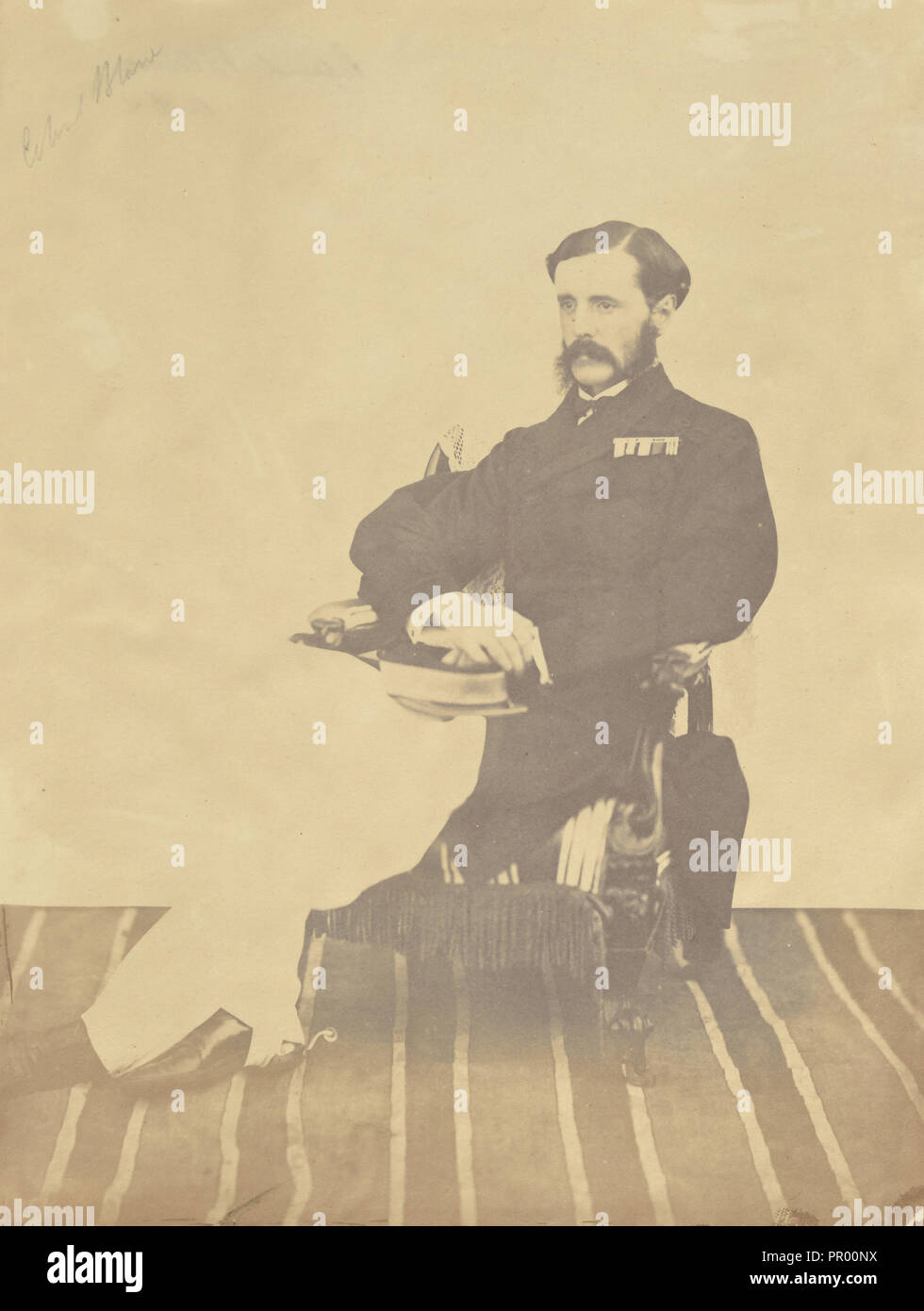 Colonel Seymour Blane, A.D.C; India; 1858 - 1869; Albumen silver print - Stock Image