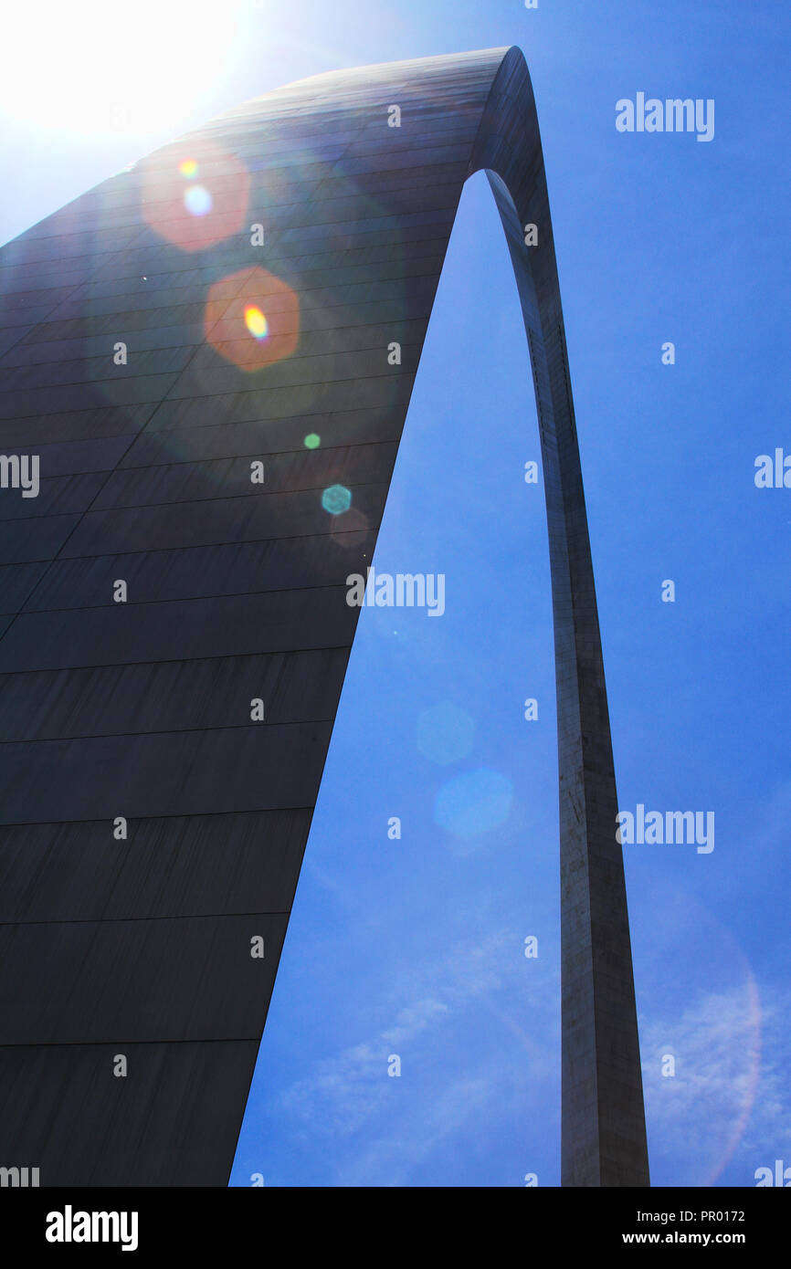 The Gateway Arch in St. Louis, Missouri - Stock Image
