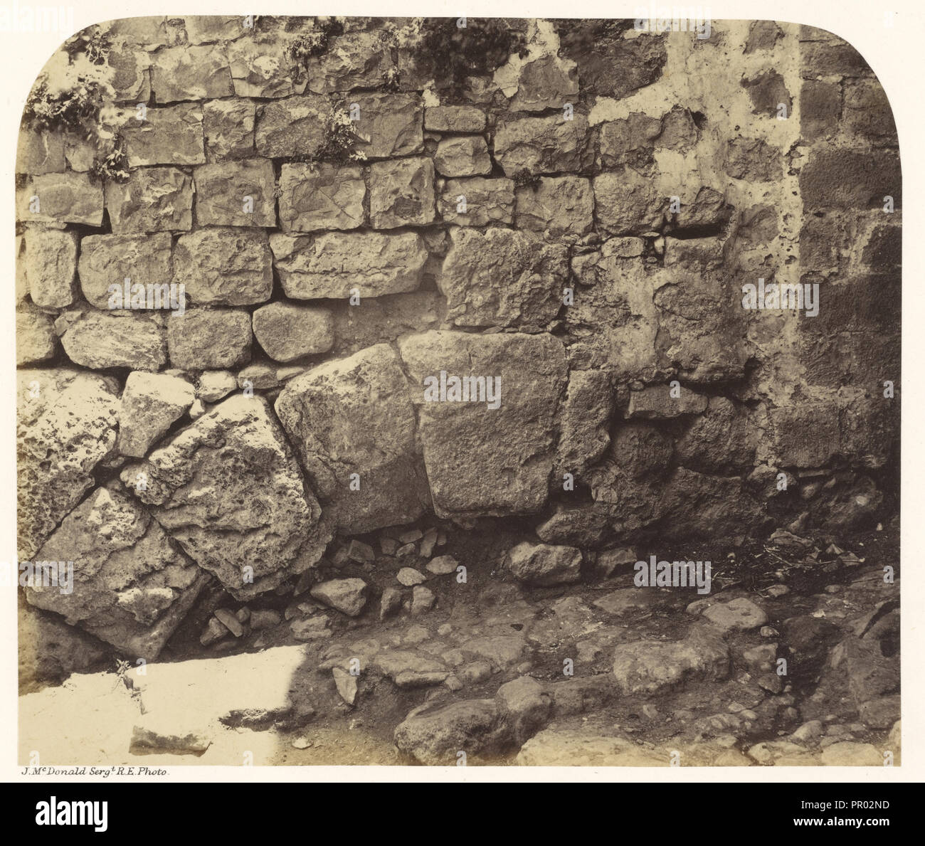 Portion of an Old Arch at the S.W. End of the Bazaars; Sgt. James M. McDonald, English, 1822 - 1885, Israel; 1865; Albumen - Stock Image