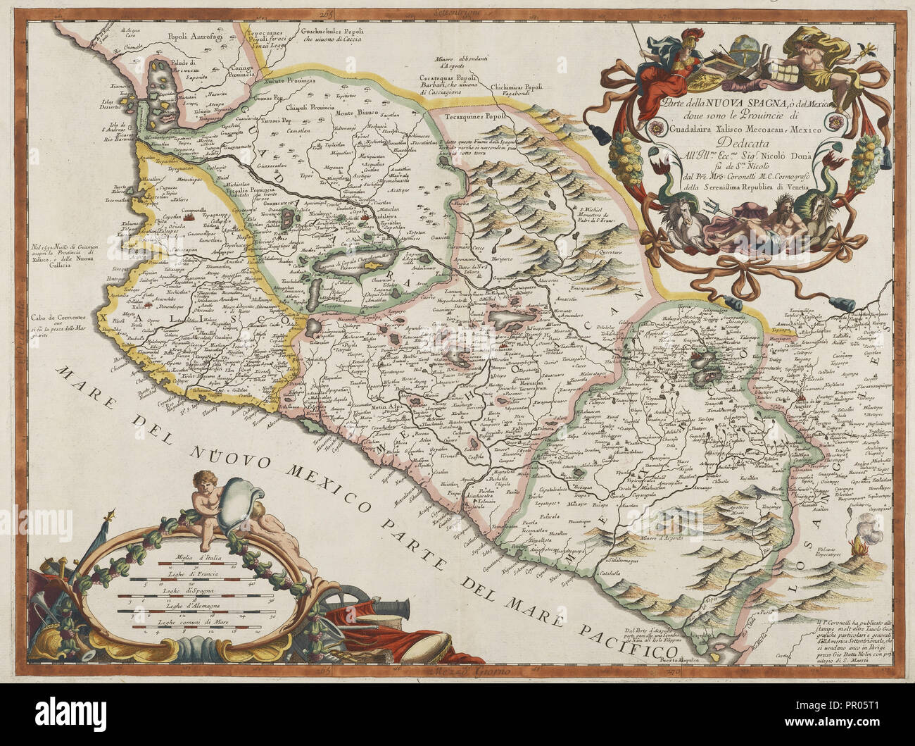 Gutierrez collection of maps and images of the Americas, Lithograph - Stock Image