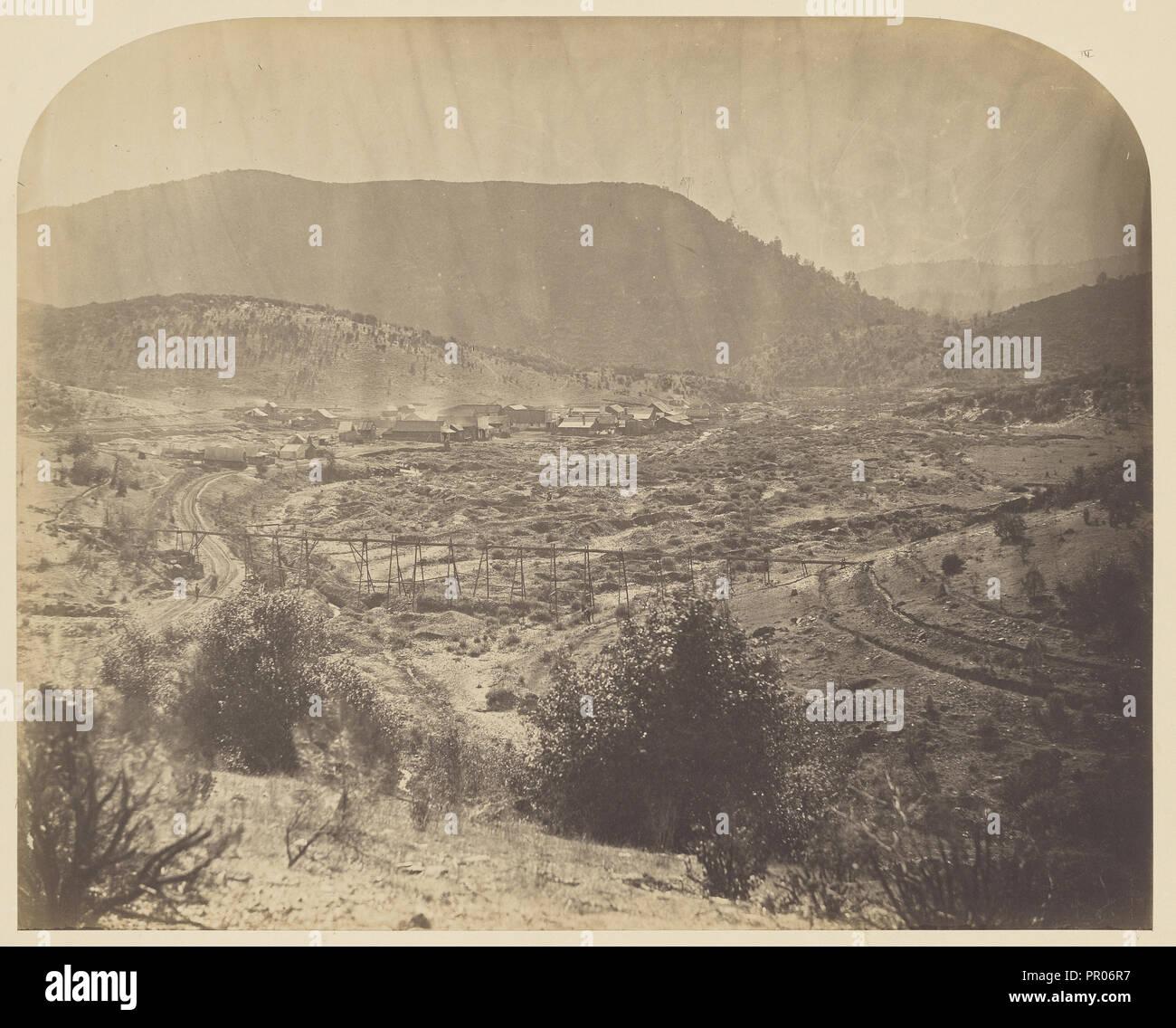 Lower Agua Fria; Carleton Watkins, American, 1829 - 1916, 1860; Salted paper print; 33.7 x 41.9 cm 13 1,4 x 16 1,2 in - Stock Image