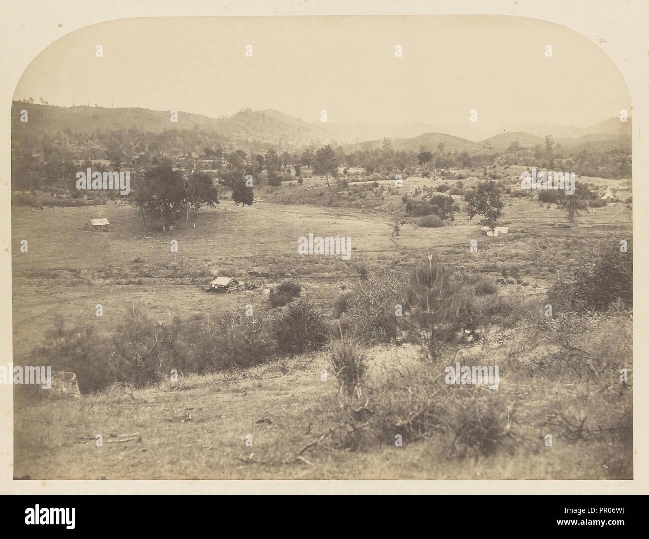 Site of Camp of J.C. Fremont, Agua Fria, 1847; Carleton Watkins, American, 1829 - 1916, 1860; Salted paper print - Stock Image