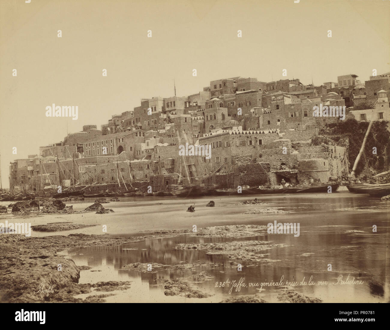 Jaffa, Vue Générale Prise De La Mer   Palestine; Félix Bonfils, French,