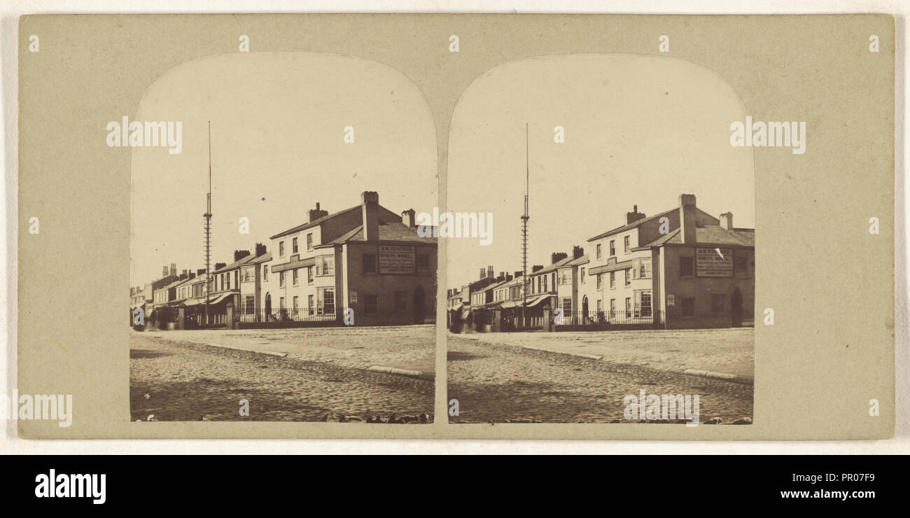 Scarisbrick Arms, Lord Street, Southport; British; about 1865; Albumen silver print Stock Photo