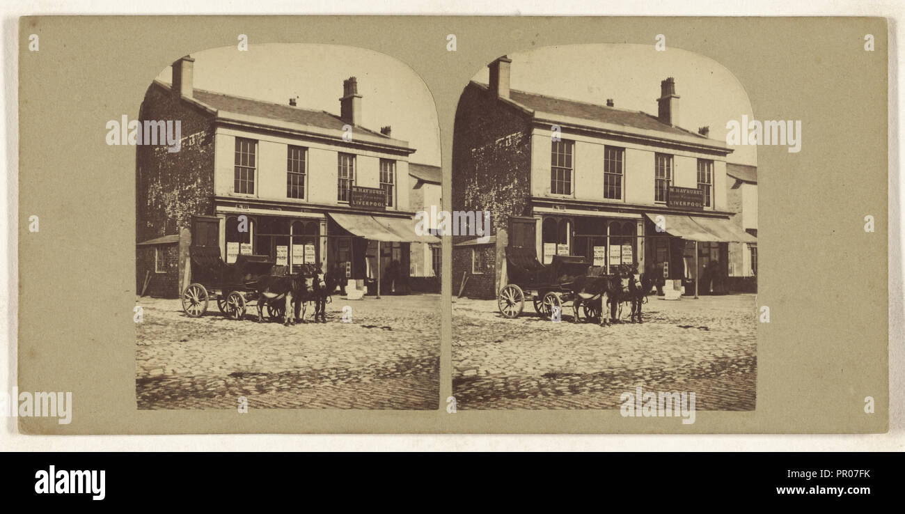 Lord Street. Southport; British; about 1865; Albumen silver print Stock Photo