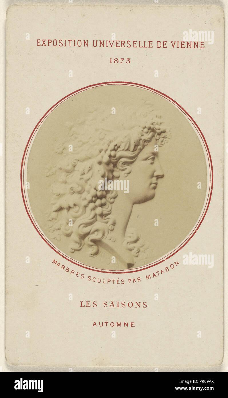Les Saisons. Automne. Marbres Sculptes Par Matabon; French; 1873; Albumen silver print - Stock Image