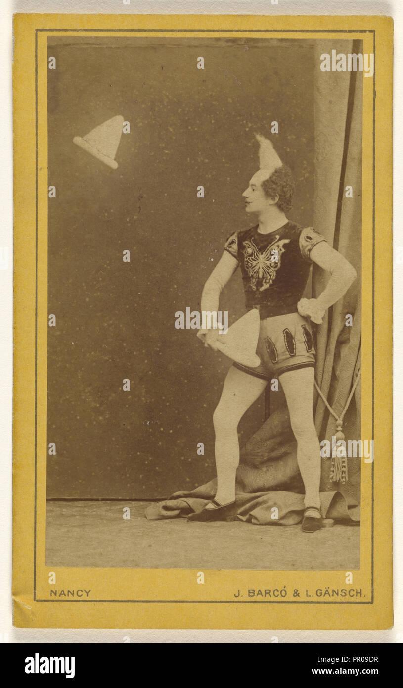 Capt. Thiebaul; J. Barco & L. Gansch; about 1873; Albumen silver print Stock Photo