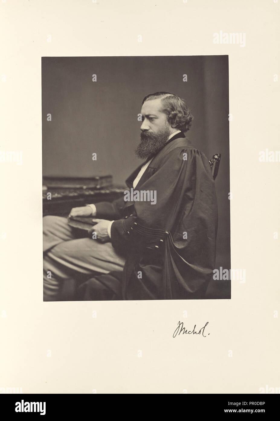 John Nichol, B.A., Oxon., Professor of English Language and Literature; Thomas Annan, Scottish,1829 - 1887, Glasgow, Scotland - Stock Image