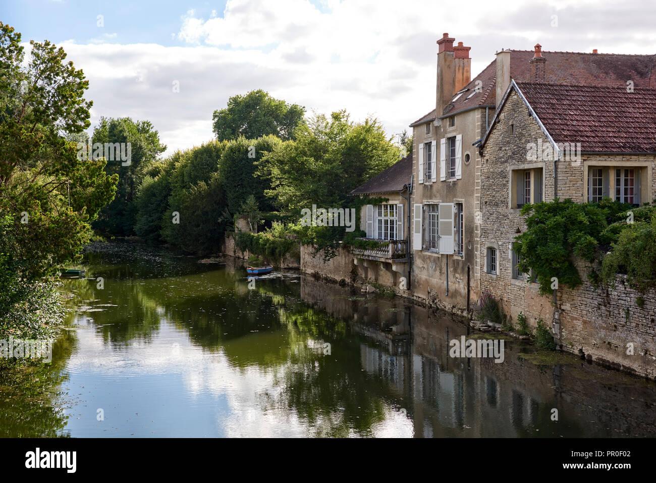 Riverside house Stock Photo