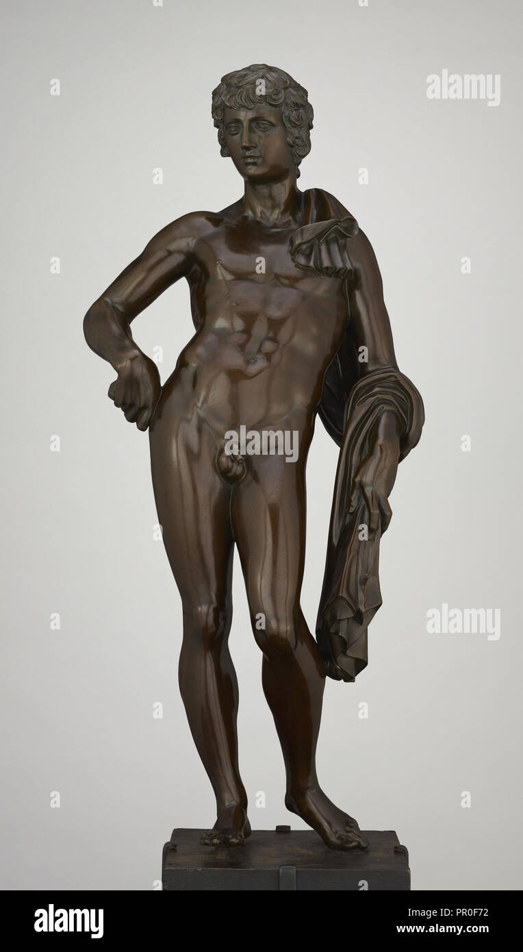 Antinous; Attributed to Pietro Tacca, Italian, 1577 - 1640, Italy; about 1630; Bronze; 64.8 cm, 25 1,2 in - Stock Image
