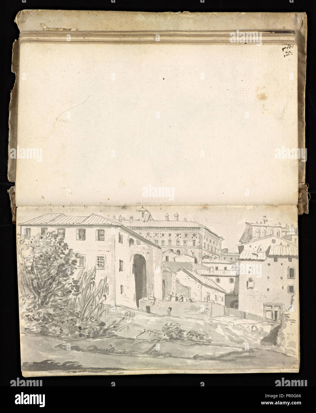 Glama-Stroberle, Joaõ, 1708-1792, pencil, ink, chalk, wash, 1741,  Sketchbook II of III dated 14 February 1741