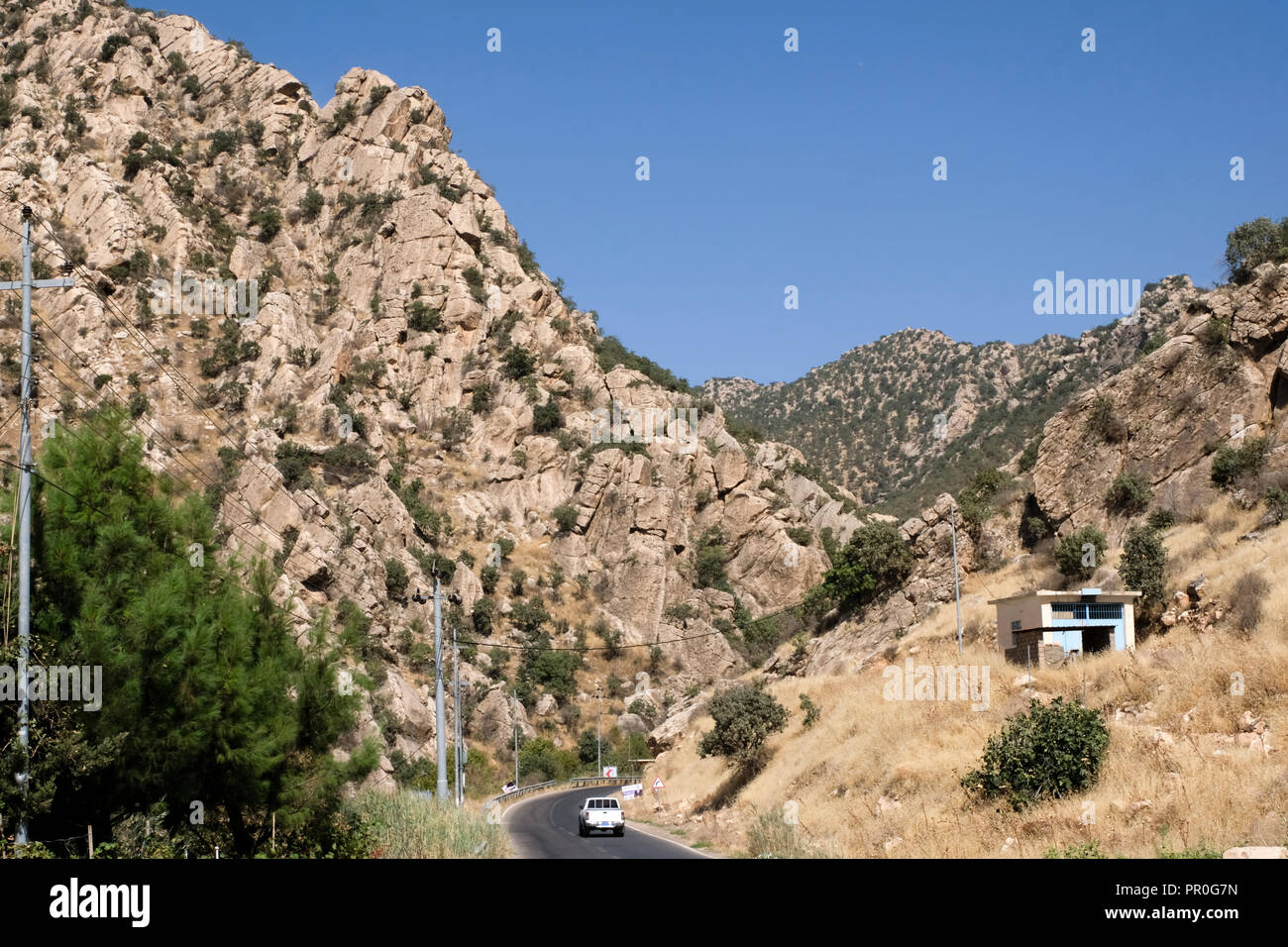 Road through the mountains of Northern Iraq, Kurdistan - Stock Image
