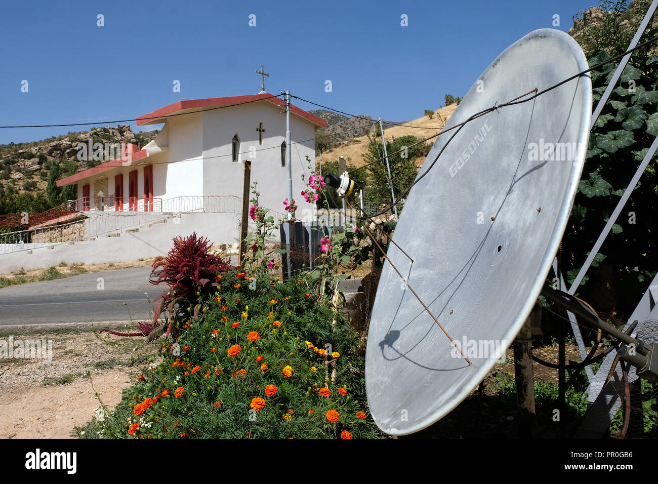 Christian church in northern Iraq, Kurdistan --- Christliche Kirche im Nord-Irak, Kurdistan - Stock Image