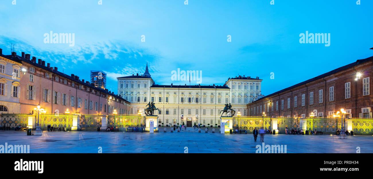 Palazzo Reale, Turin, Piedmont, Italy, Europe - Stock Image