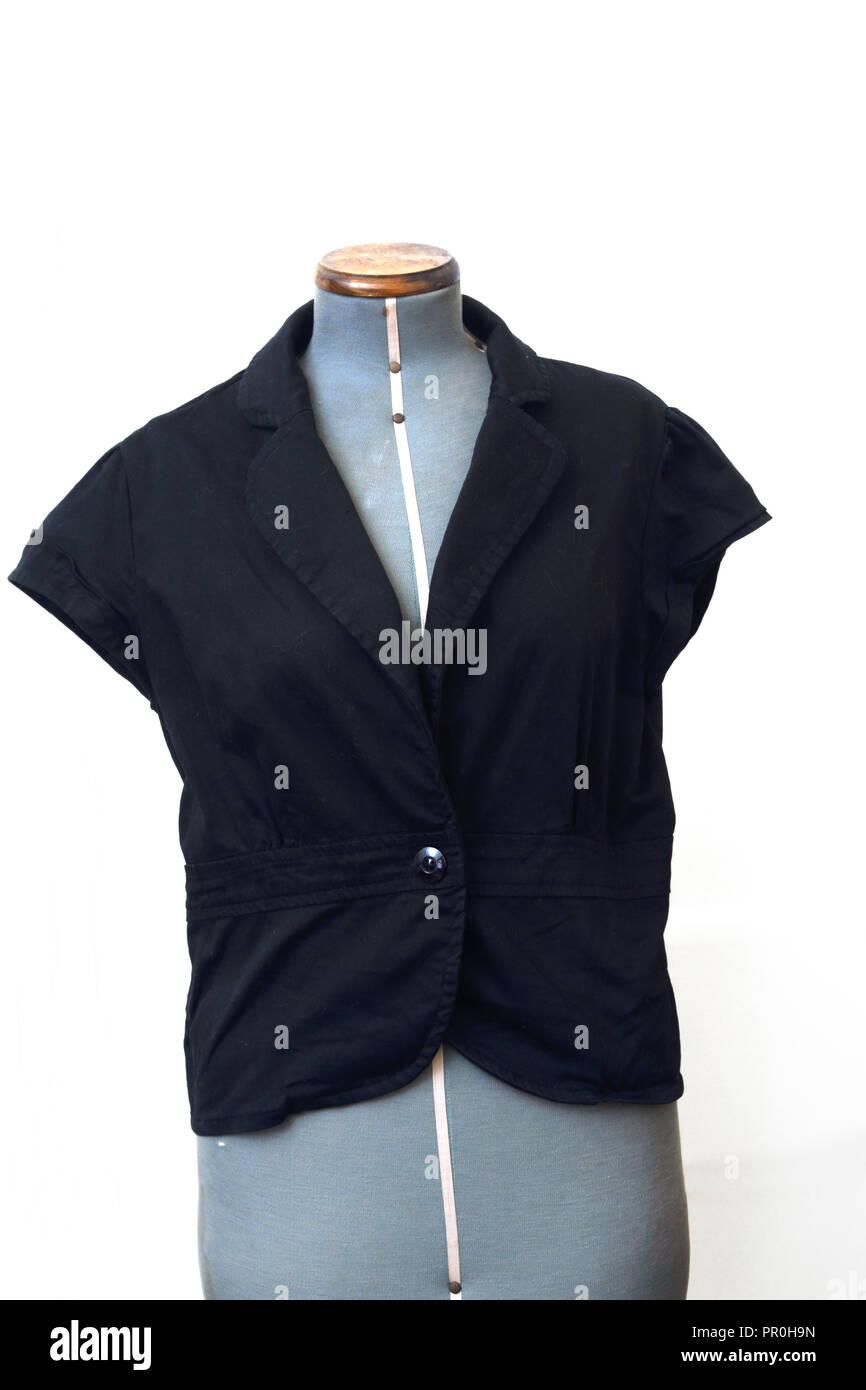 Black Short Sleeved Jacket - Stock Image