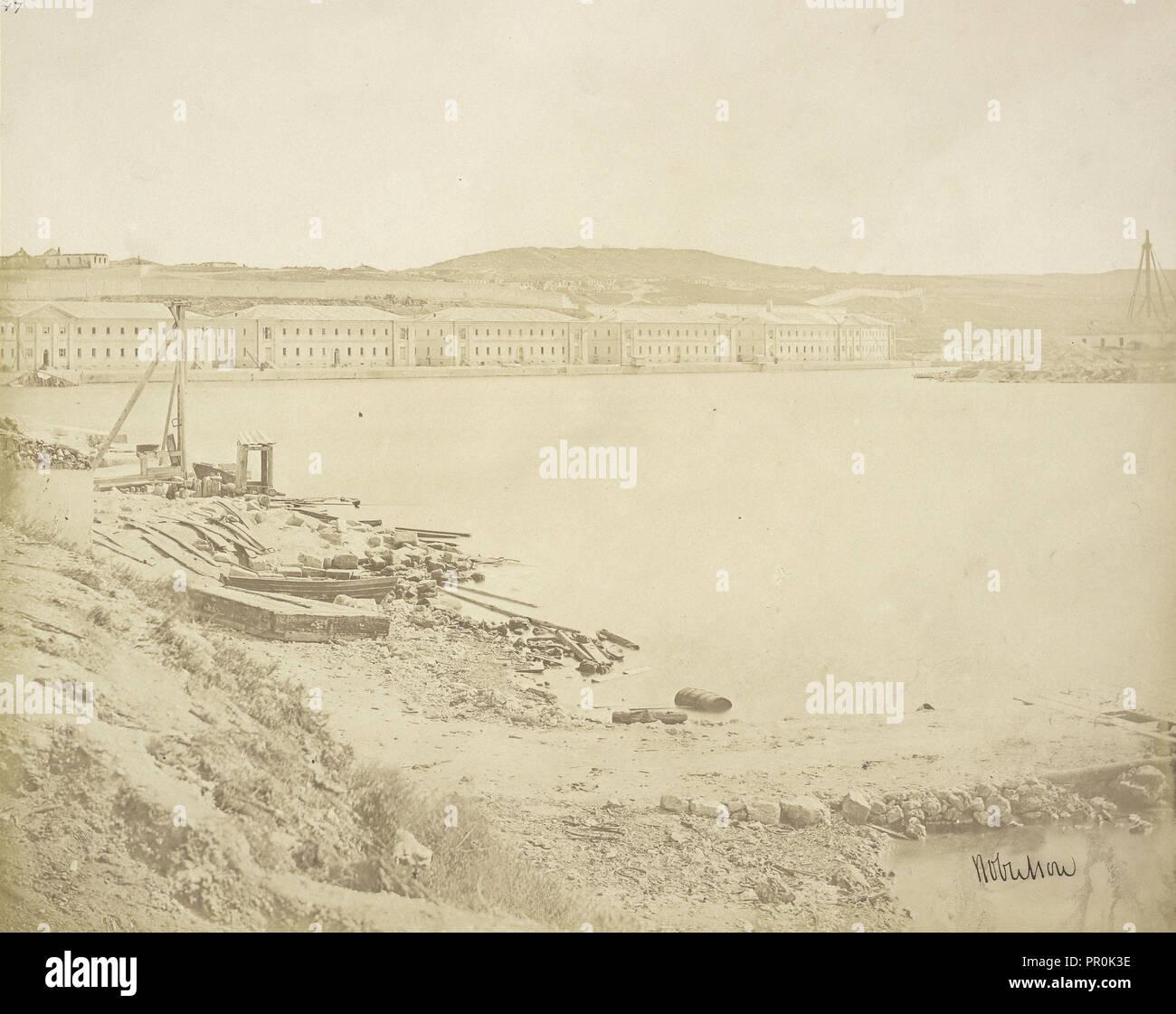 Panorama of Sebastopol From the Malakoff Tower; James Robertson, English, 1813 - 1888, Attributed to Felice Beato English - Stock Image