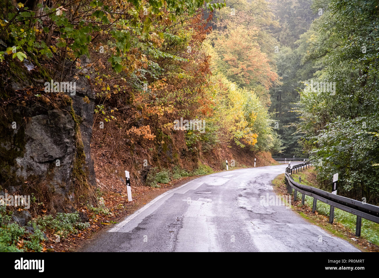Herbst im Strassenverkehr erhöte Achtung - Stock Image