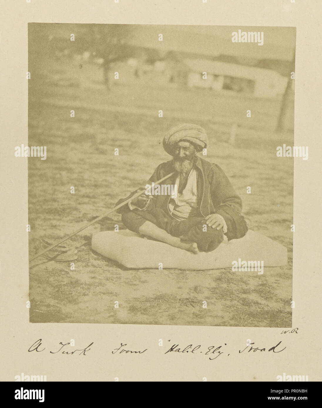A Turk From Halil Ely, Troad; Dr. William Robertson, Scottish, 1818 - 1882, Çanakkale, Turkey; 1855 - 1856; Albumen silver - Stock Image