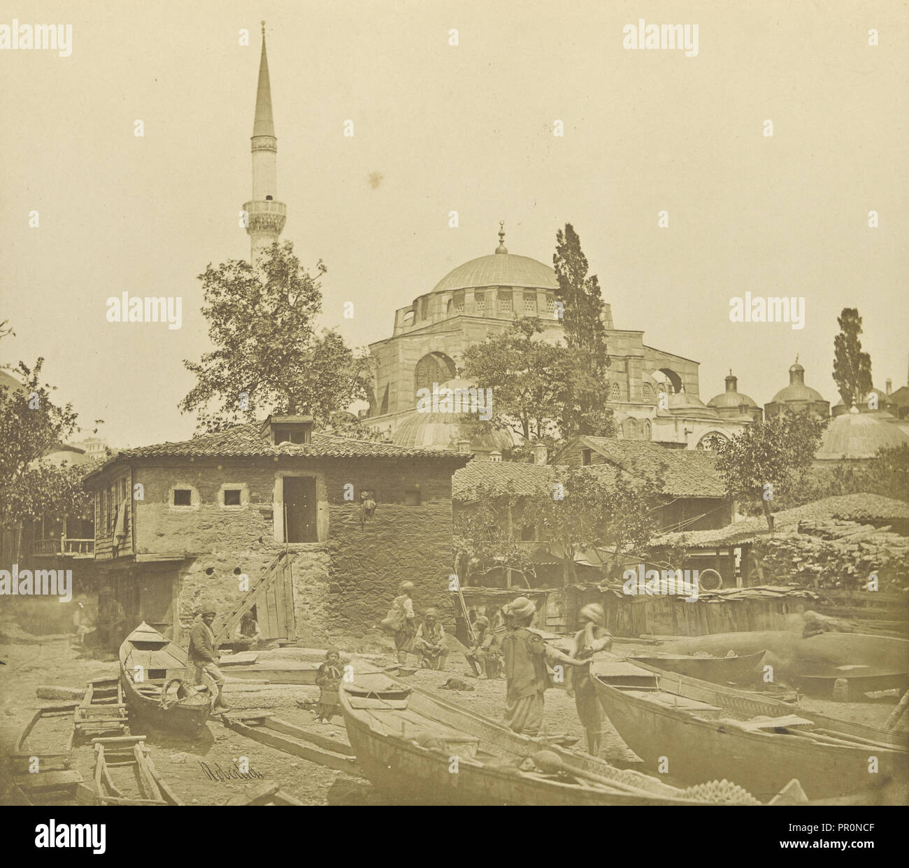 Constantinople, Istanbul; James Robertson, English, 1813 - 1888, Turkey; 1855 - 1856; Salted paper print; 26 × 29 cm - Stock Image
