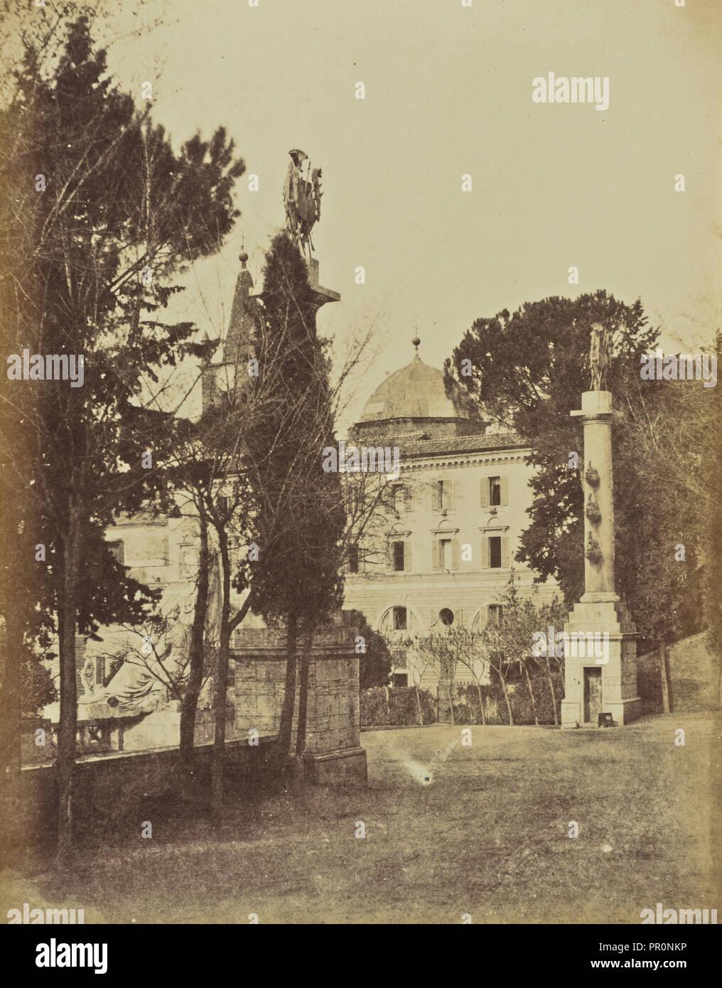 Ascent to Monte Pincio, Rome; Mrs. Jane St. John, British, 1803 - 1882, Rome, Italy; 1856 - 1859; Albumen silver print - Stock Image