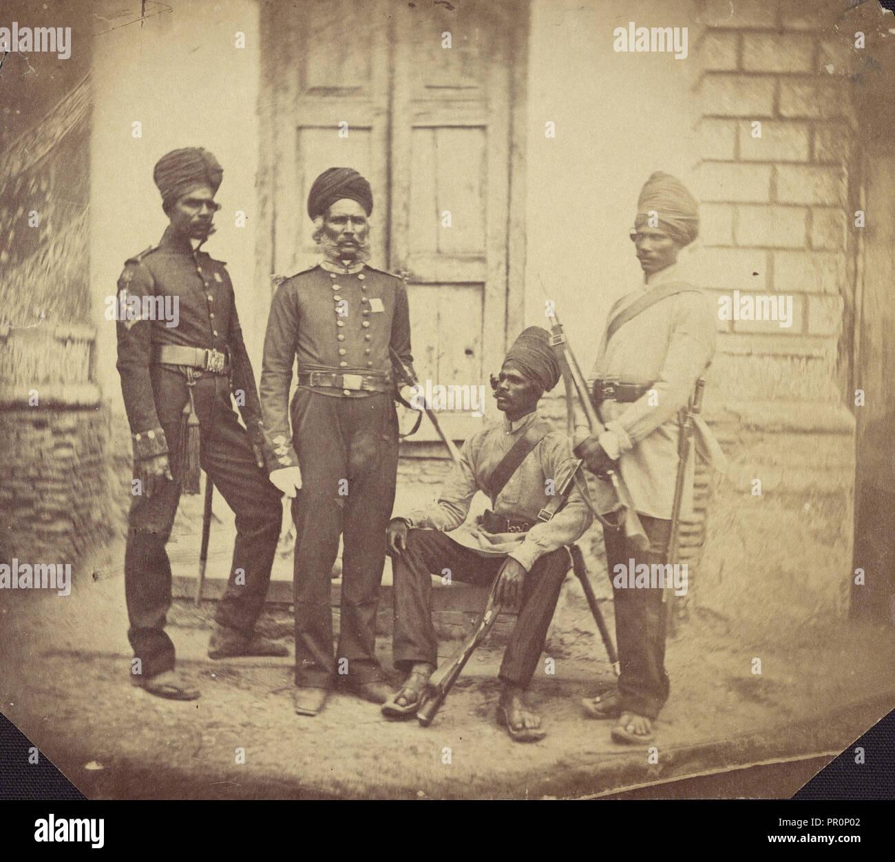 Soubador & Sepoys; Felice Beato, 1832 - 1909, India; 1858 - 1860 ...