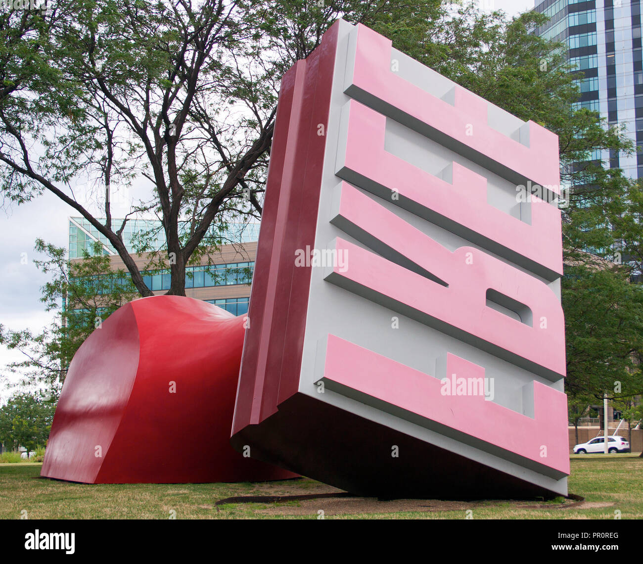 Giant Rubber Stamp in Cleveland, Ohio - Stock Image