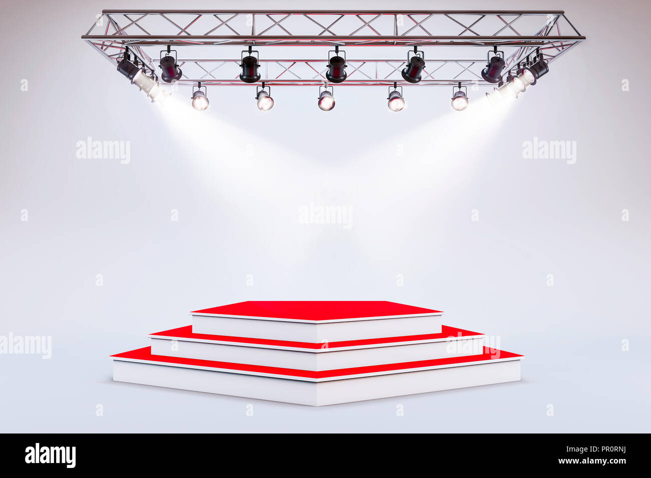 3d template of blank empty podium stage stock photo 220680142 alamy