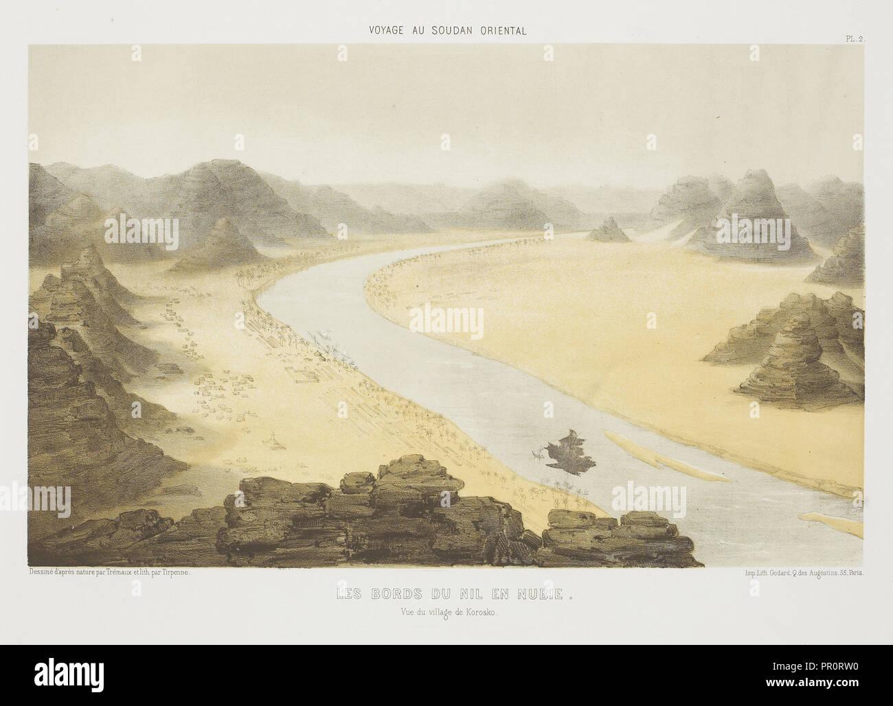 Les Bords du Nil en Nubie, Voyages au Soudan oriental et dans l'Afrique septentrionale, exécutés de 1847 à 1854: comprenant une - Stock Image