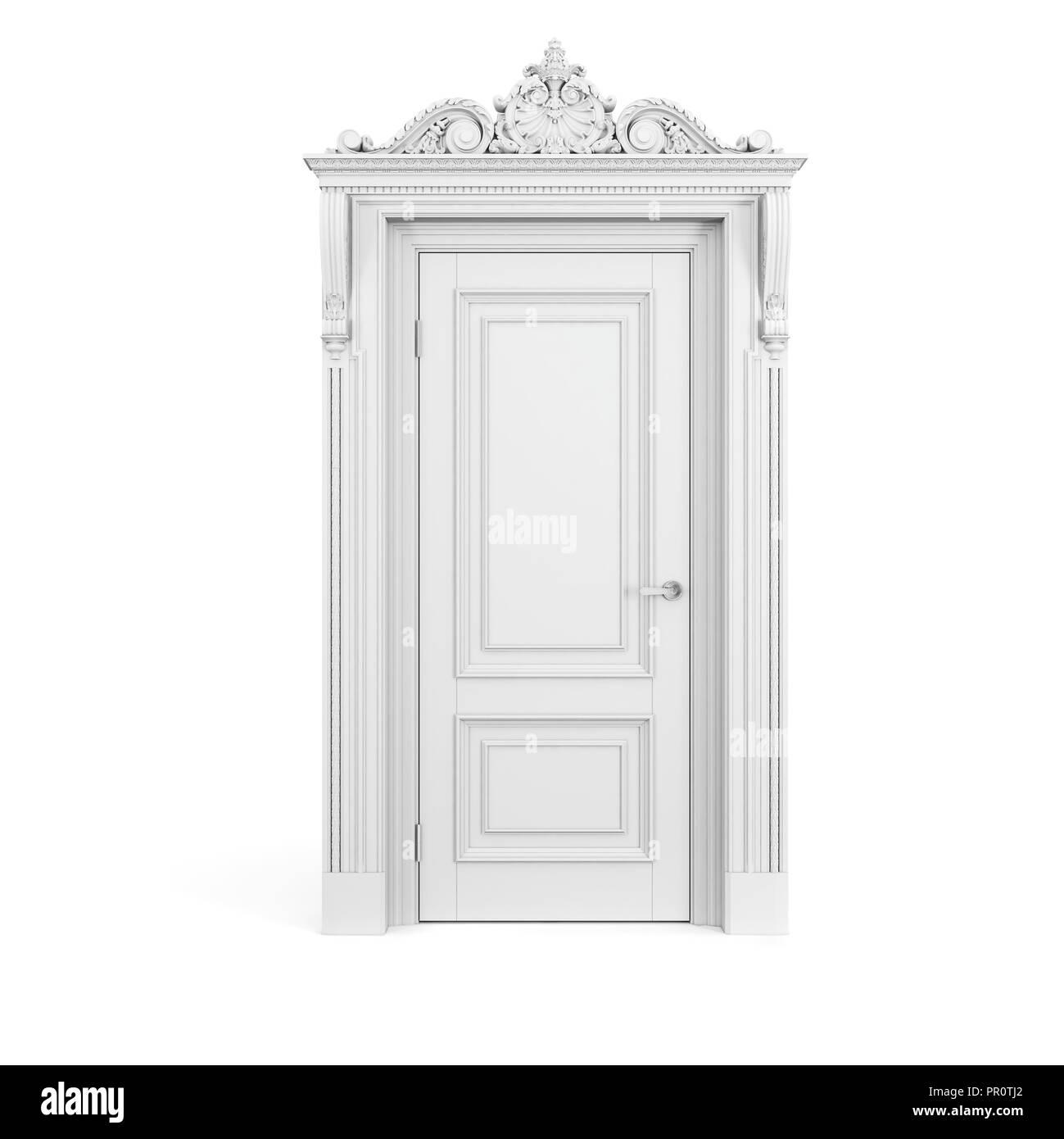 3d Vintage White Door Stock Photo 220680826 Alamy