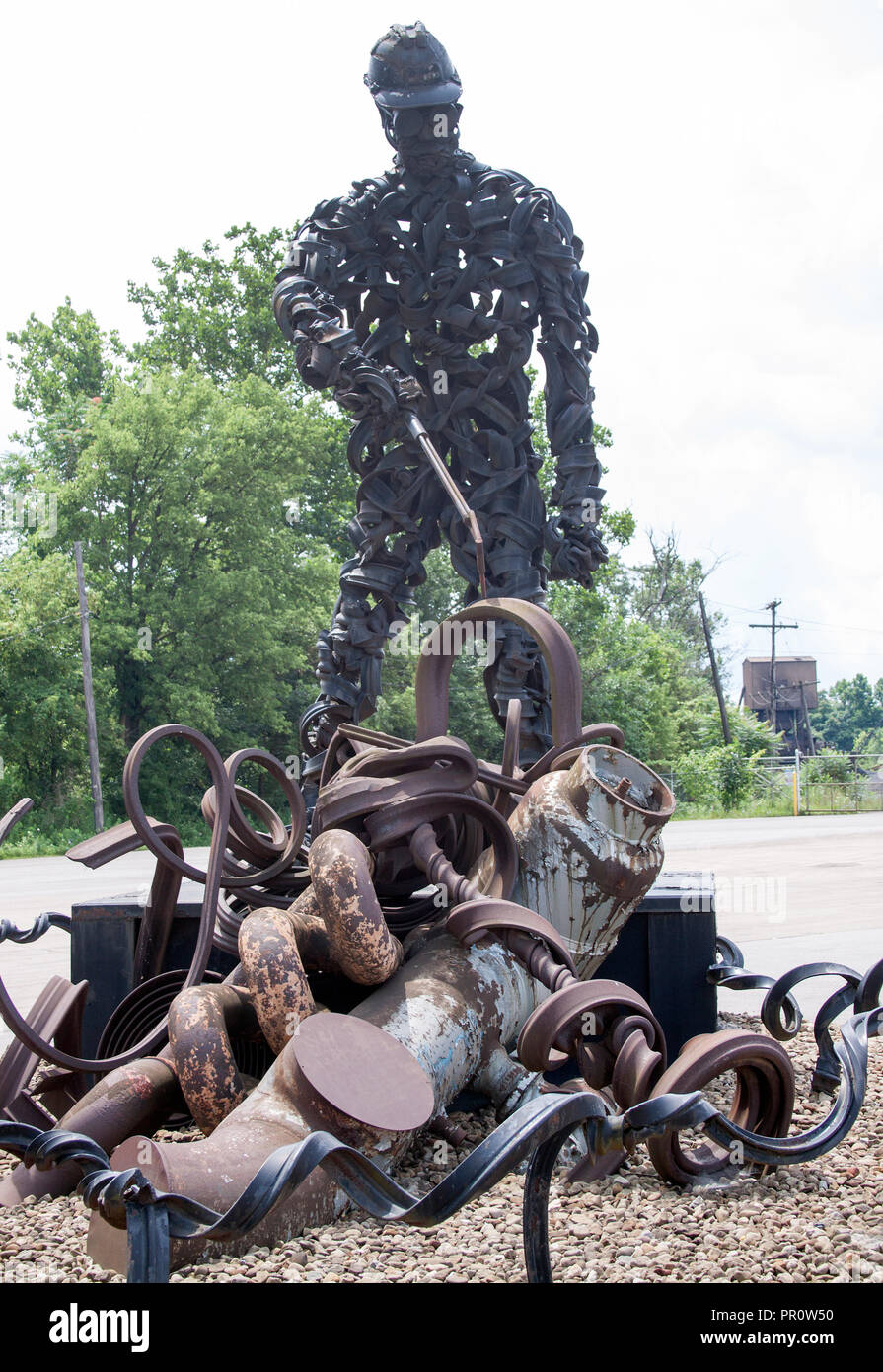 The big Iron Worker statue was made by the children of the