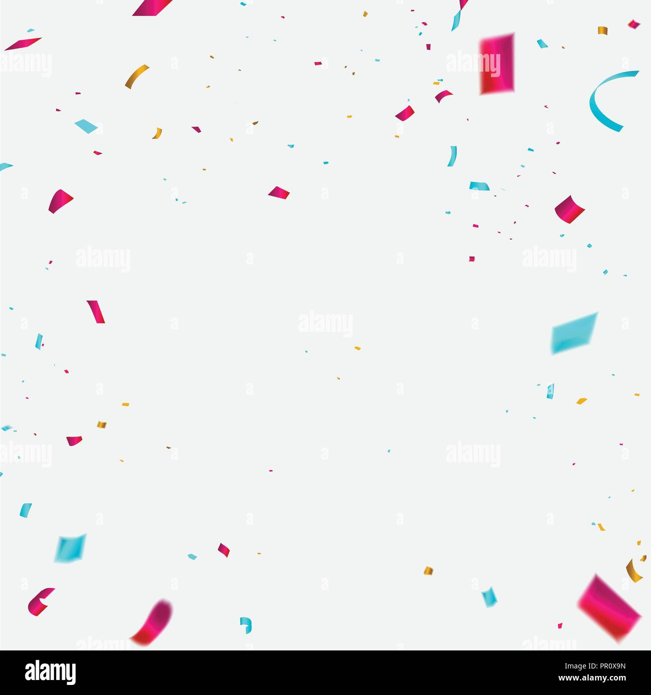 celebration background template with confetti colorful ribbons