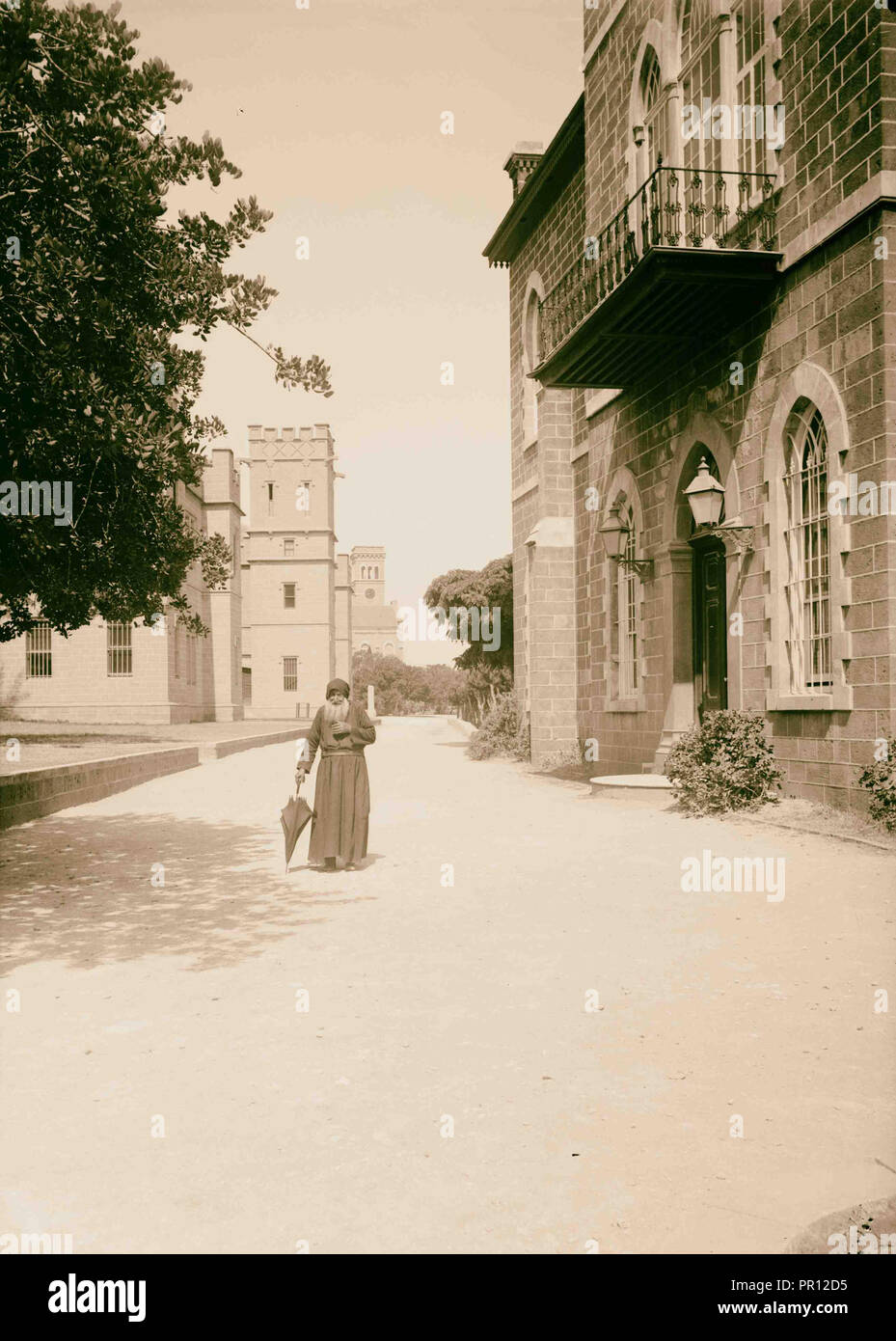 Beirut. Medical dept. and museum of American University. 1900, Lebanon, Beirut - Stock Image