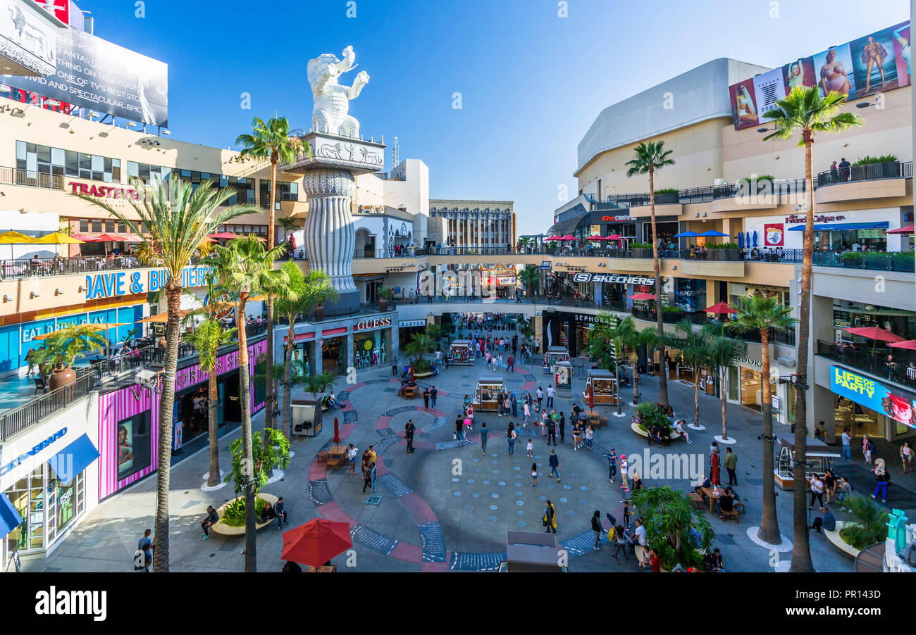 hollywood and highland shopping mall hollywood boulevard hollywood