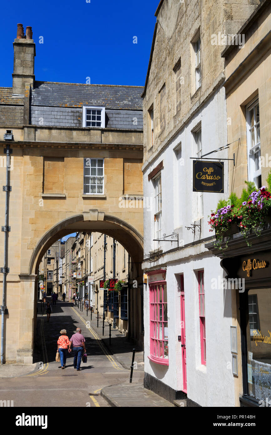 Queen Street, City of Bath, Somerset, England, United Kingdom, Europe - Stock Image