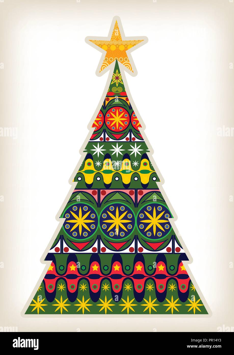 Christmas Tree Design - Stock Vector
