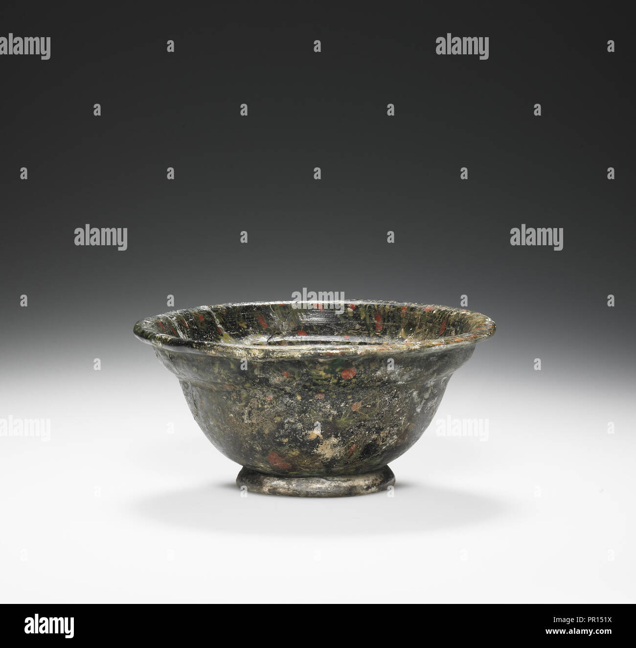 Mosiac Bowl; Eastern Mediterranean; end of 1st century B.C.–1st century A.D; Glass; 4 × 9 cm, 1 9,16 × 3 9,16 in - Stock Image