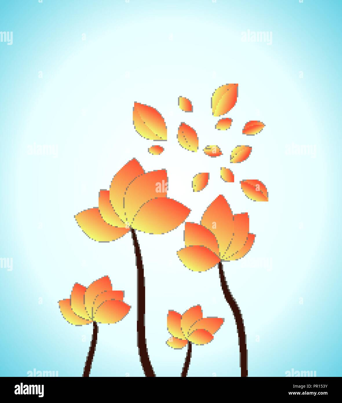 Flower Concept Map.3d Papercut Layers In Gradient Vector Banner Artistic Floral Design