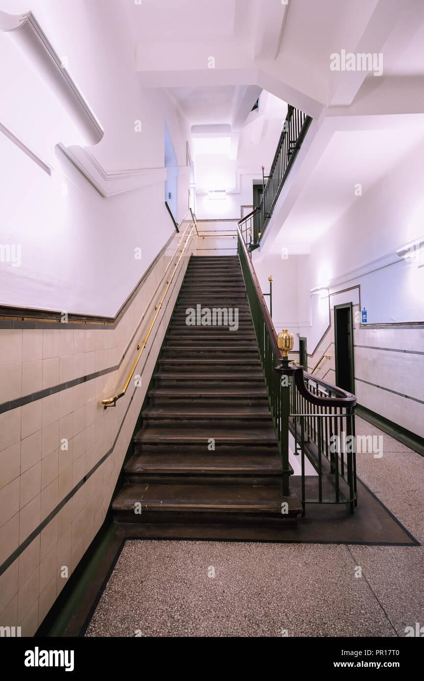 The Merchants House of Glasgow Scotland Staircase - Stock Image