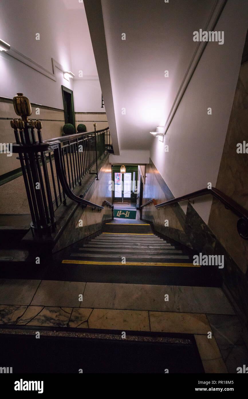 The Merchants House of Glasgow Scotland Staircase Stock Photo