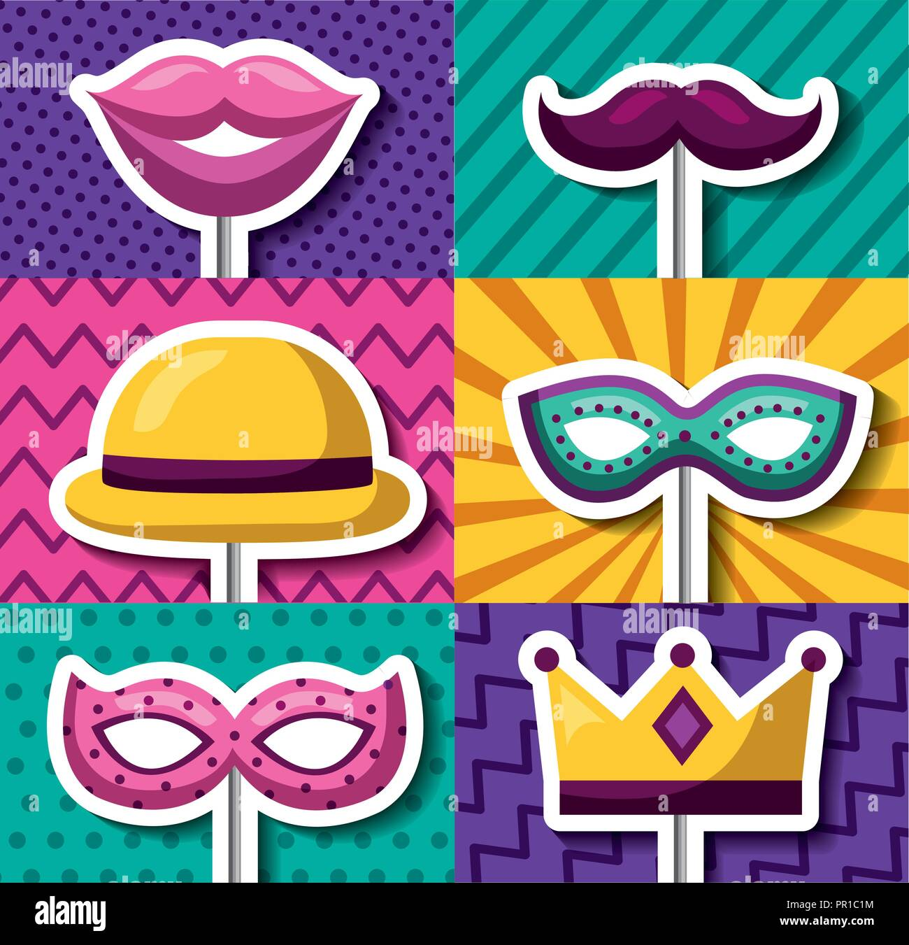 Mask Banners Free Simple Vector Banners
