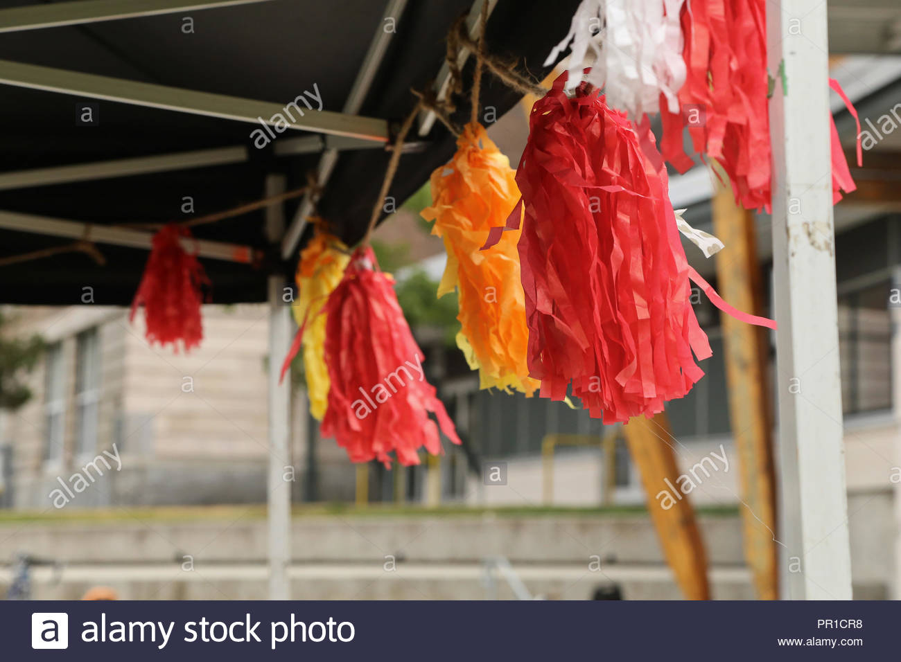 Streamers at Fernfest in Victoria, B.C. - Stock Image