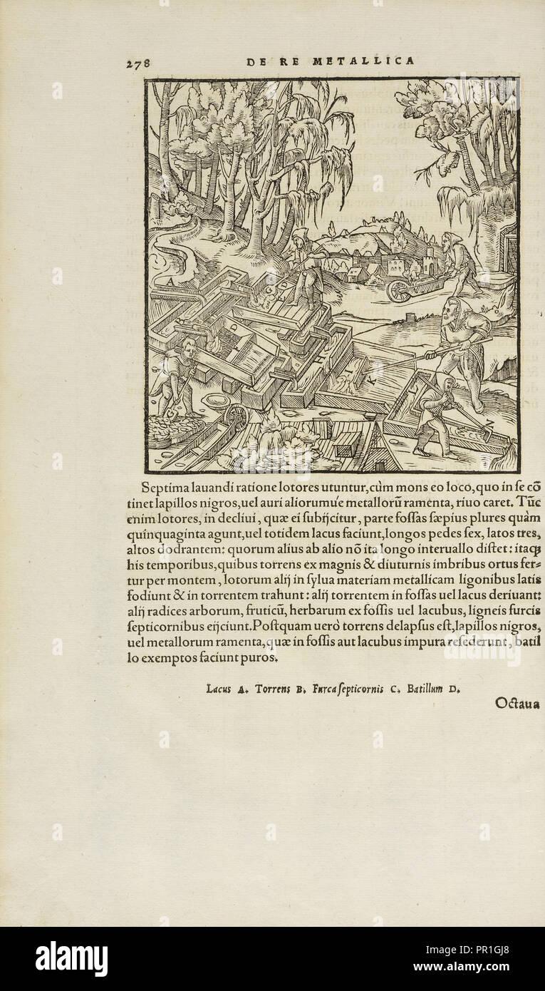 Page 278 Georgii Agricolae De re metallica: libri XII. Quibus officia, instrumenta, machinae, ac omnia deni, que, ad metallicam - Stock Image