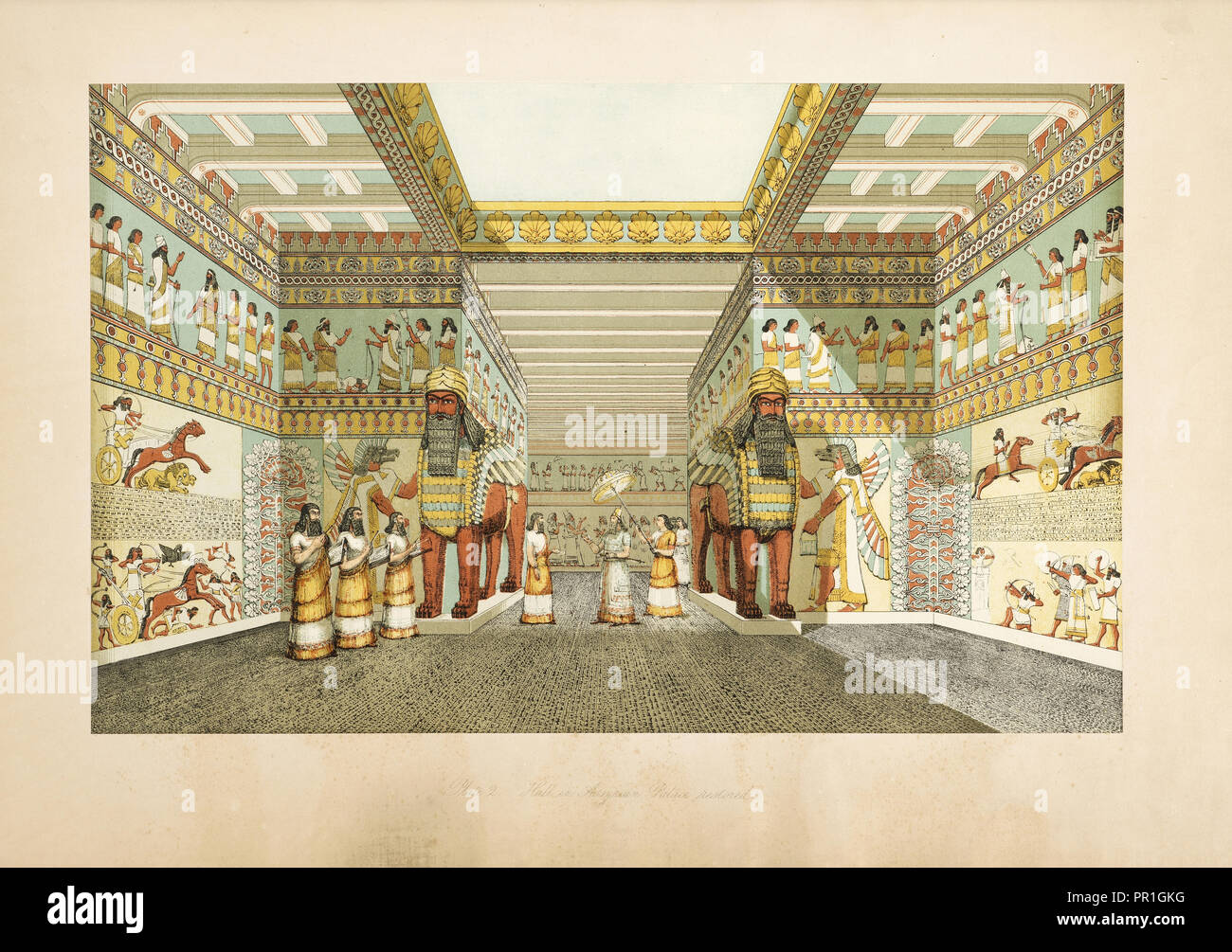 The monuments of Nineveh: from drawings made on the spott: first series, Layard, Austen Henry, Sir, 1817-1894, 1849 Stock Photo