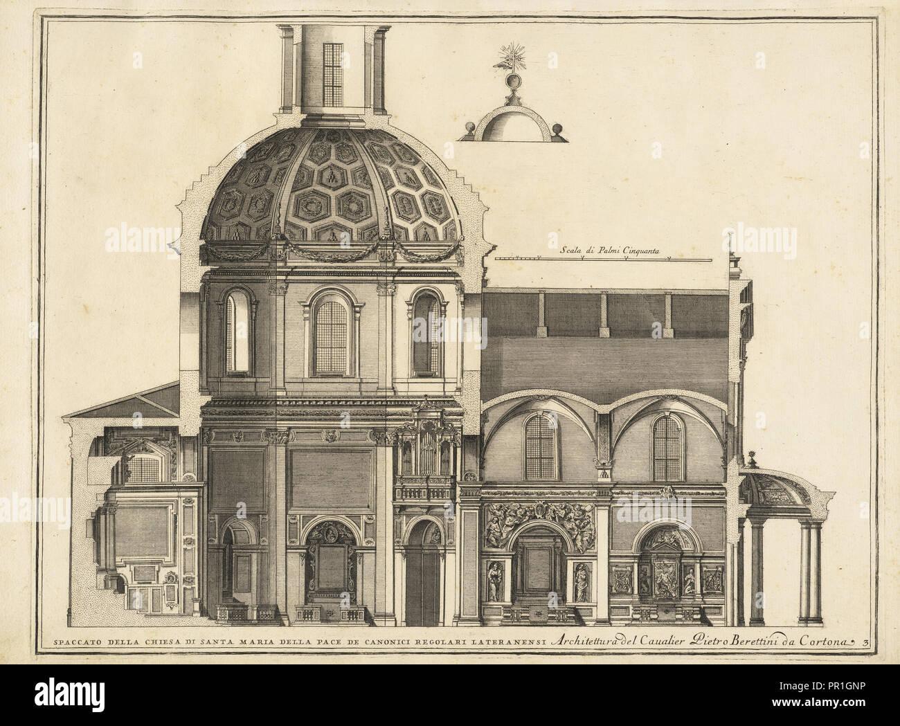 Spaccato della Chiesa di Santa Maria della Pace de Canonici Regolari Lateranensi, Stvdio d'architettvra civile sopra Stock Photo