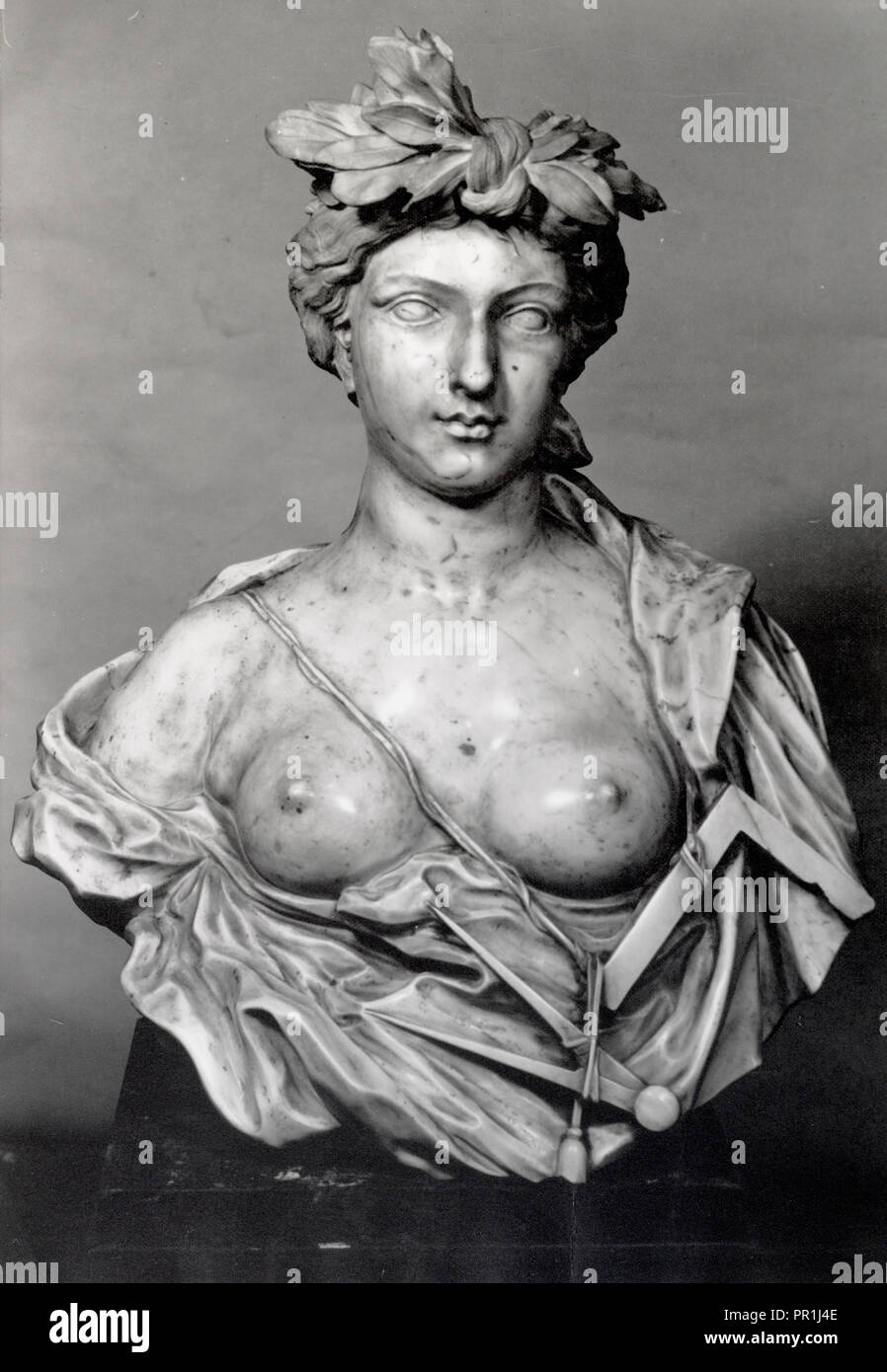 17th century marble bust School of Bernini, The French and Company photographic archive of fine and decorative arts, Gelatin - Stock Image