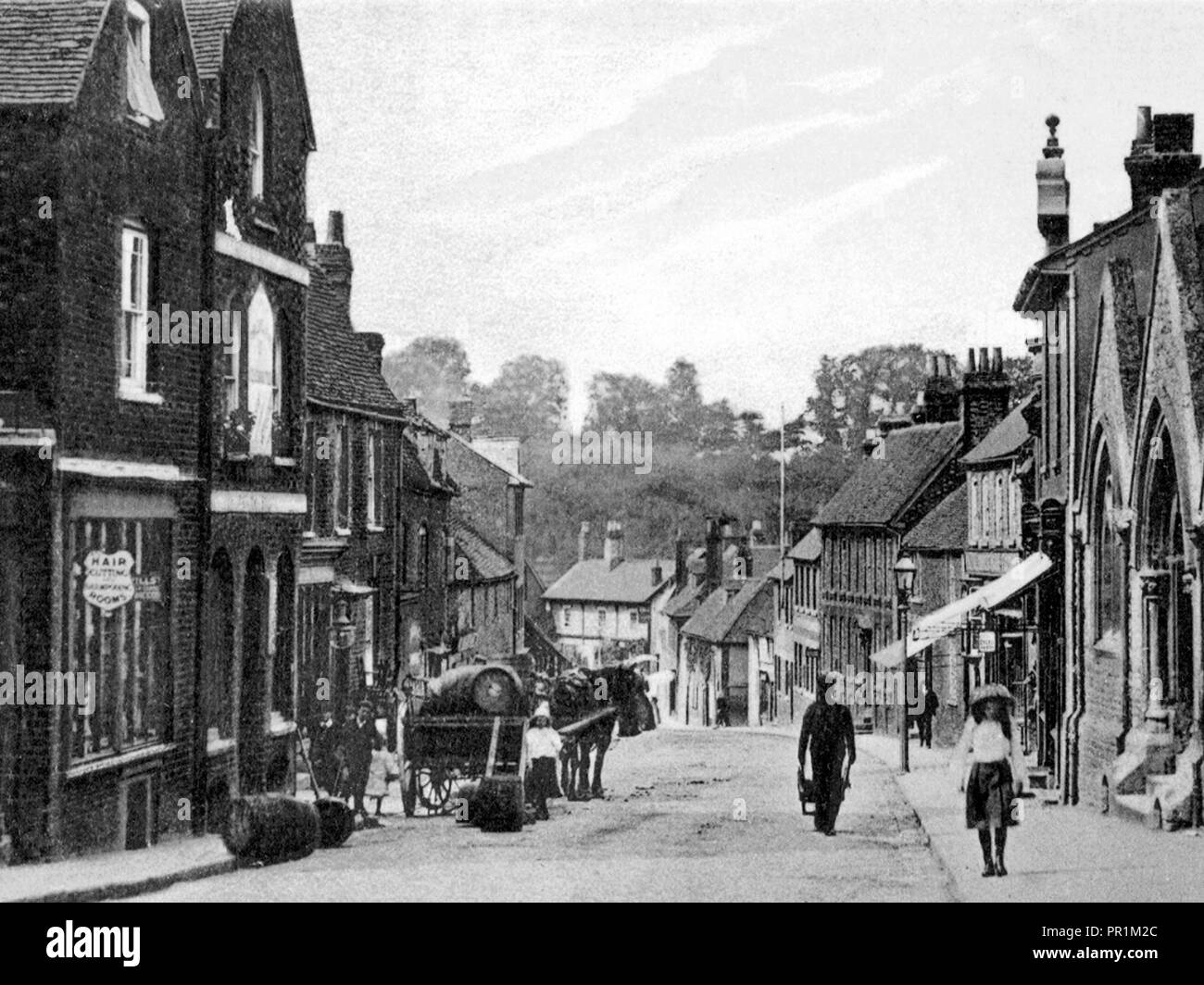 Mill Street, Wantage early 1900's - Stock Image